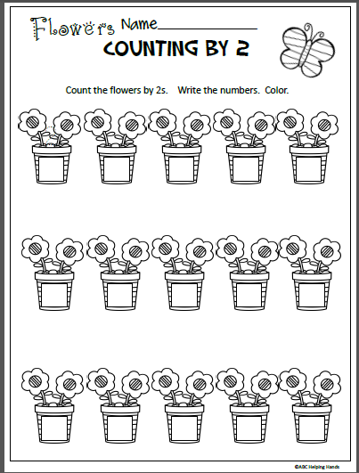 Free Spring Math Worksheet for Counting By 2s - Madebyteachers