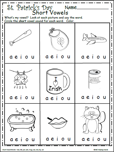 It is an image of Free Printable Short Vowel Worksheets throughout beginner