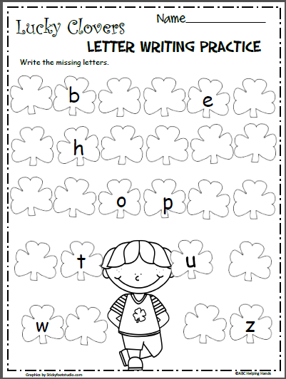 st patrick 39 s day lowercase letters worksheet madebyteachers. Black Bedroom Furniture Sets. Home Design Ideas