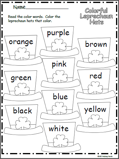 picture regarding Leprechaun Hat Printable called Vibrant Leprechaun Hat Worksheet - Madebyteachers
