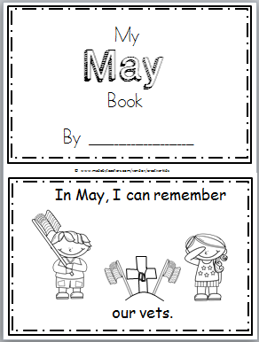 Kindergarten May Mini Book Printable