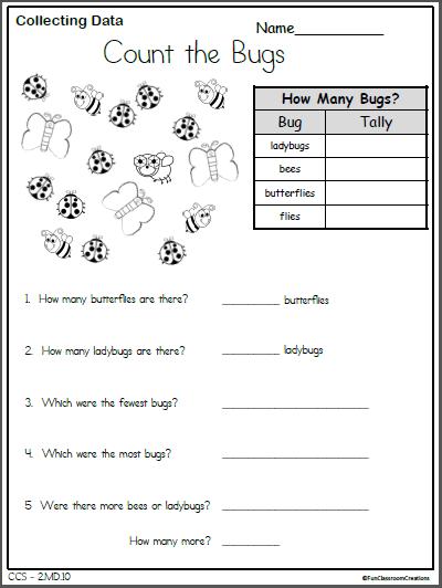 Math Data Worksheet For 2nd Grade - Made By Teachers