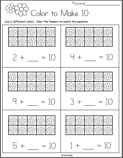 Free Math Worksheet For Kindergarten Addition - Made By Teachers