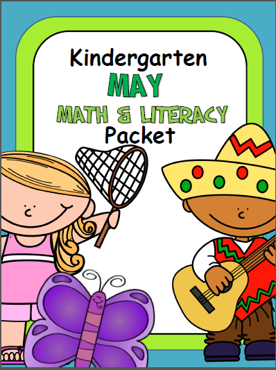 photo relating to Kindergarten Packet Printable named May possibly Math and Literacy Packet for Kindergarten