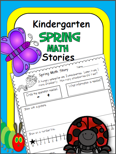 Spring Math Stories for Kindergarten