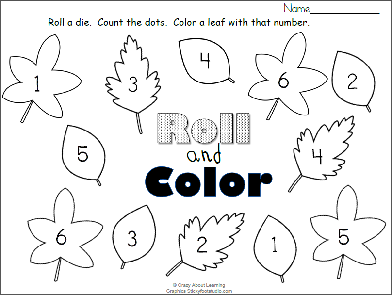photo regarding Fall Color by Number Printable identify Absolutely free Drop Leaves Roll and Colour Figures Worksheet