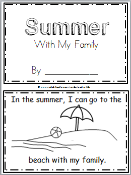 summer mini book kindergarten