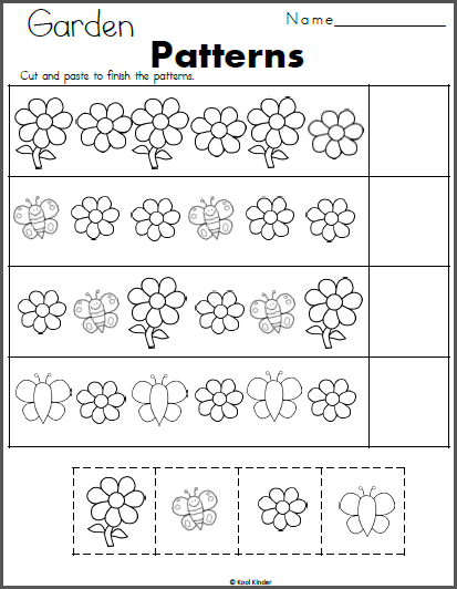 free spring math worksheet count the flowers madebyteachers. Black Bedroom Furniture Sets. Home Design Ideas