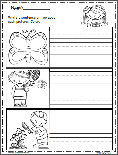free spring writing mini-prompts