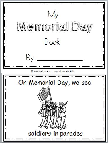 Free Memorial Day Mini Book Printable