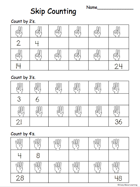 free skip counting by 2s 3s and 4s worksheet madebyteachers. Black Bedroom Furniture Sets. Home Design Ideas