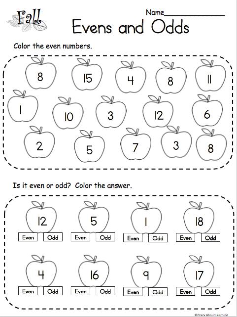 Free Even and Odd Math Worksheet - Madebyteachers
