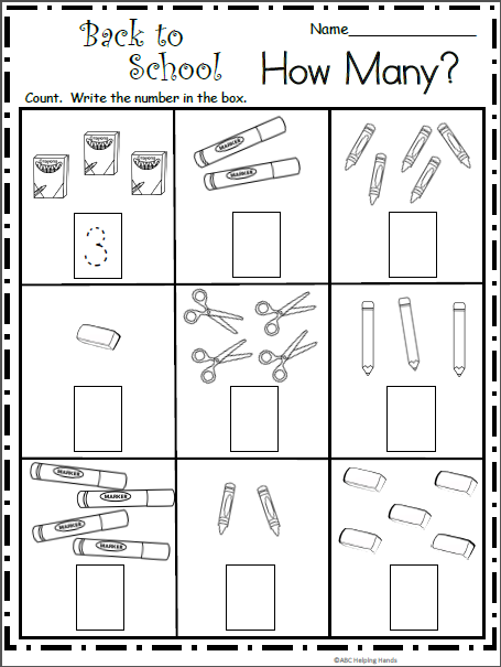 September Math and Literacy Packet for Kindergarten ...