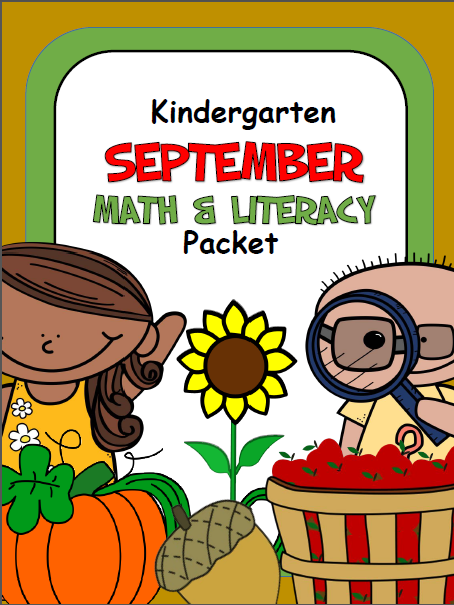 September Math And Literacy Workbook for Kindergarten
