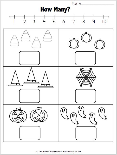 Halloween Math - How Many? - Madebyteachers