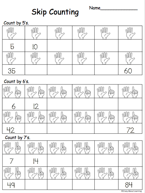 Free Skip Counting By 5s, 6s and 7s Math Worksheet ...