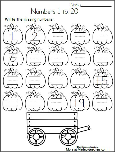Free Fall Math Worksheets for Kindergarten - Numbers 1 to 20 ... Math Worksheets Kindergarten Missing Number Sheet on kindergarten opposite words worksheets, kindergarten number writing worksheets, kindergarten rhyming word matching worksheets, kindergarten tracing number worksheets 1 5, kindergarten color by number worksheets, kindergarten missing letter worksheets, kindergarten worksheets counting to 30, kindergarten number word worksheets, kindergarten addition worksheets, first grade math worksheets color by numbers, kindergarten phonics worksheets ending sounds, kindergarten worksheets missing number 100, kindergarten math numbers 11-20 worksheet, kindergarten spelling worksheets summer, kindergarten worksheets number 9, activity preschool worksheets numbers, kindergarten worksheets numbers to 20, kindergarten counting worksheets 1-100, kindergarten ten frame, math worksheets ordering numbers,