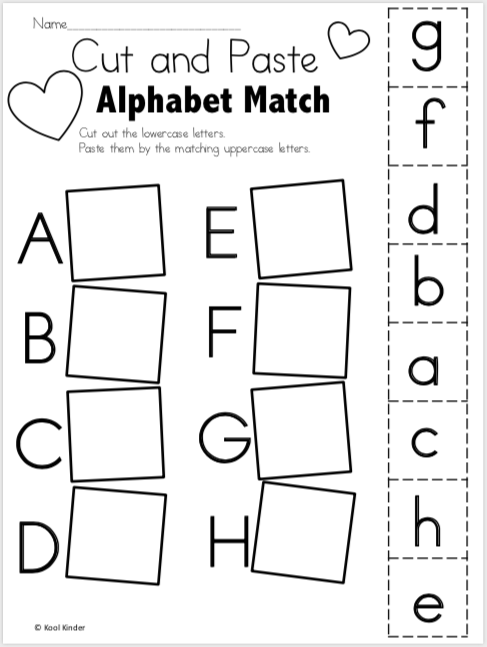 Free Valentine's Day Alphabet