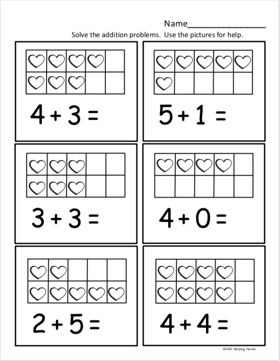free kindergarten math worksheet for kindergarten addition madebyteachers. Black Bedroom Furniture Sets. Home Design Ideas