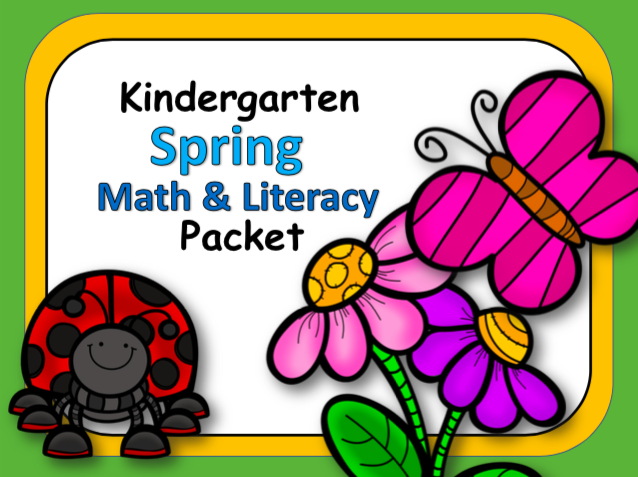 Spring Kindergarten Workbook