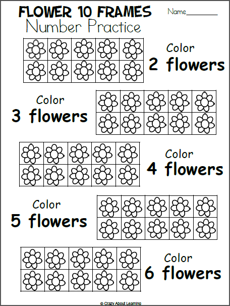 Free Spring Math Worksheet For Preschool - Color The Flowers - Made By  Teachers