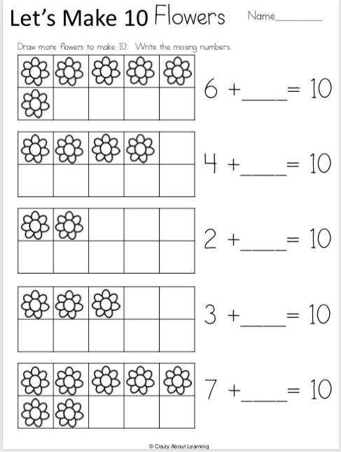 free spring kindergarten math addition worksheets madebyteachers. Black Bedroom Furniture Sets. Home Design Ideas