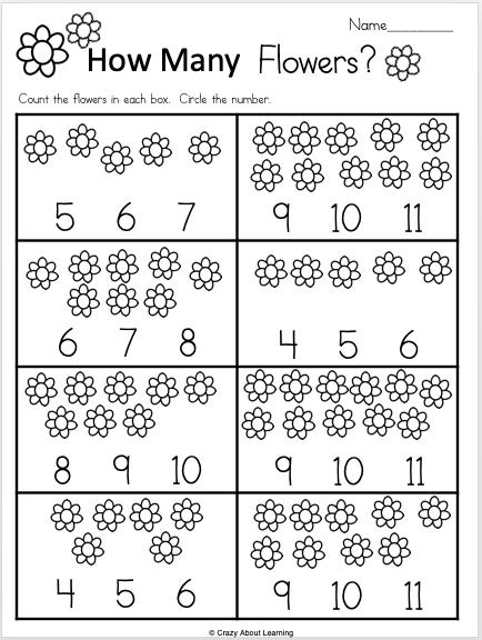 Free Kindergarten Math Number Recognition Worksheet For