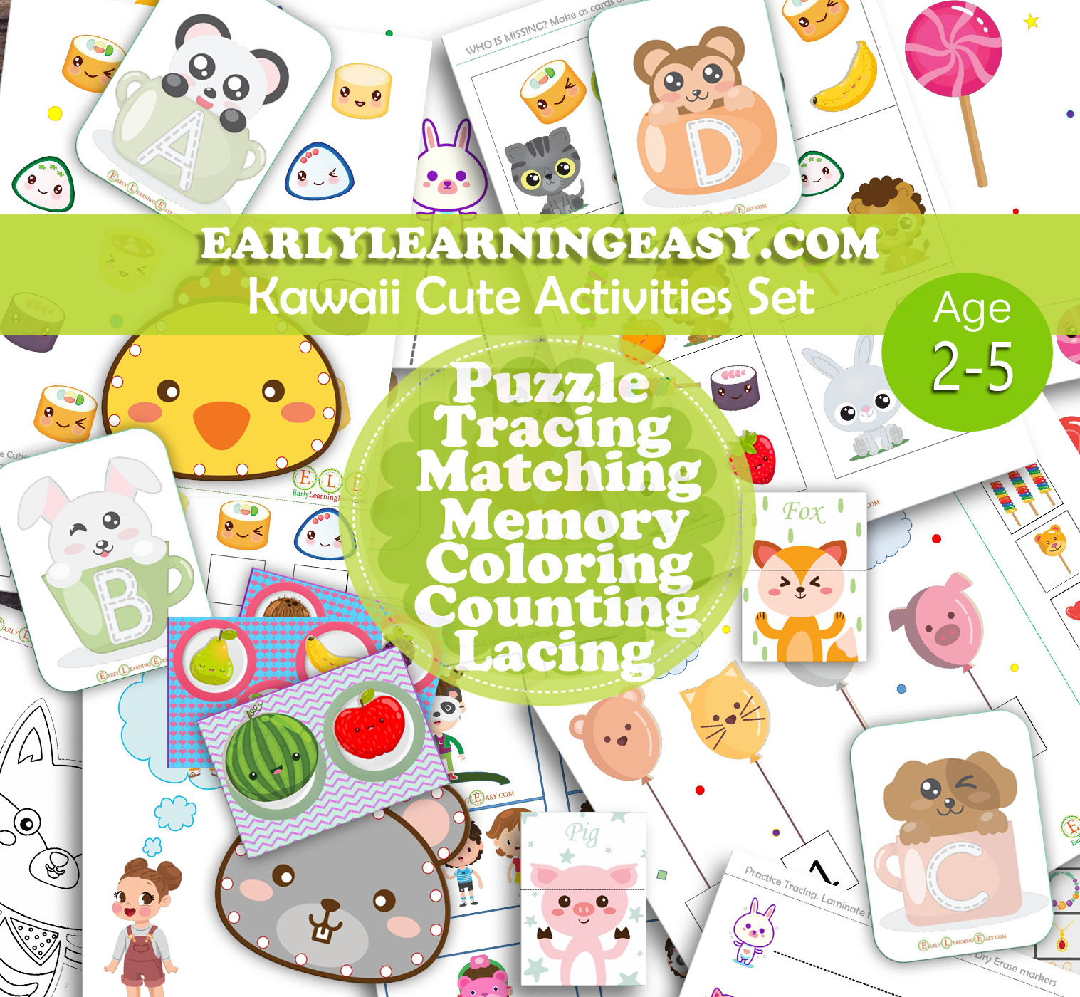photograph relating to Toddler Printable Activities referred to as Kawaii Lovable Child, Pre-K and Pre-university routines.