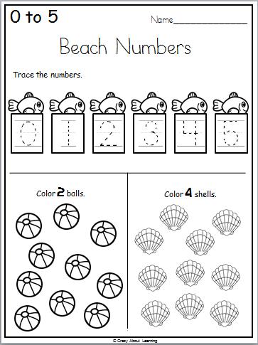Ready For Kindergarten Math Workbook - Summer Math Worksheets