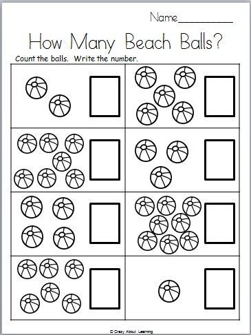 Few And Many Worksheets For Kindergarten