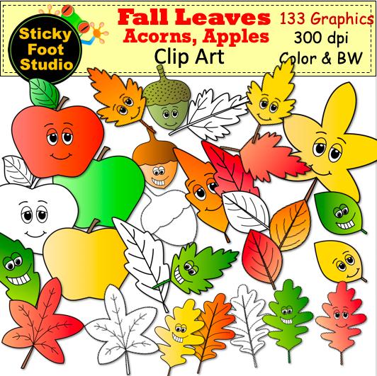 Autumn Leaf Color Clip Art - Royalty Free - Leaves And Acorns Decor Picture  Transparent PNG