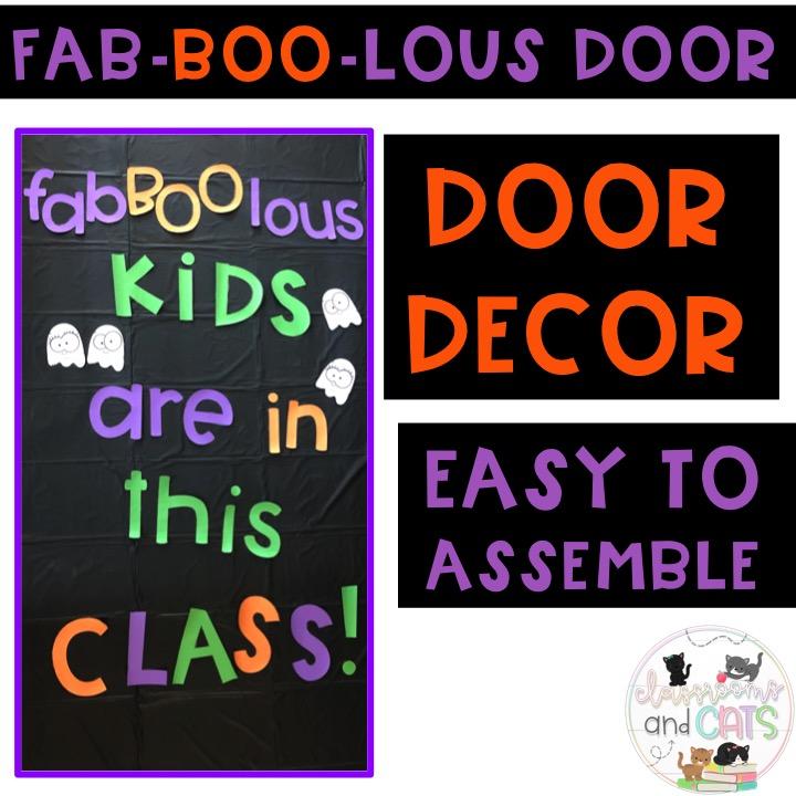October Door Decor or Bulletin Board