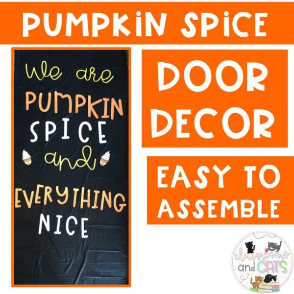 Pumpkin Spice Fall Bulletin Board or Door Decor