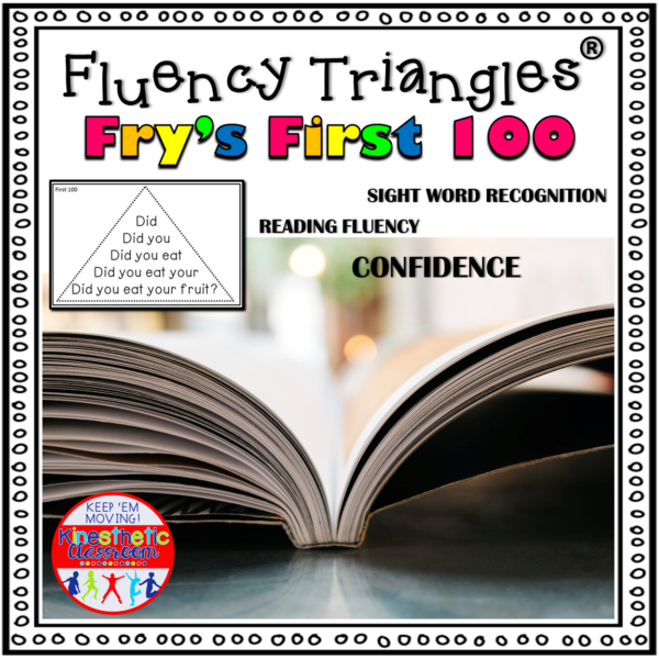 Reading Fluency Triangles® Fry First 100 Sight Words