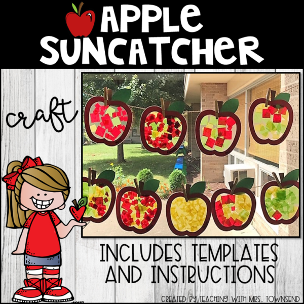 Apple Suncatcher Craft
