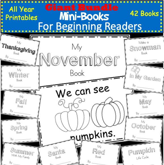 Giant Beginning Reader Printable Books