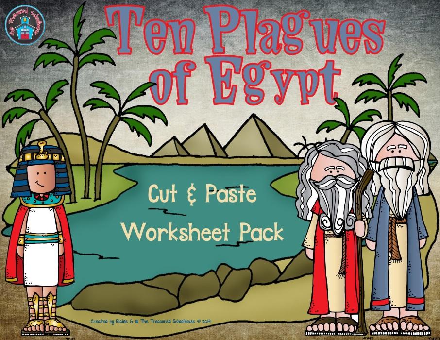 Ten Plagues of Egypt Cut & Paste Worksheet Pack - Catholic