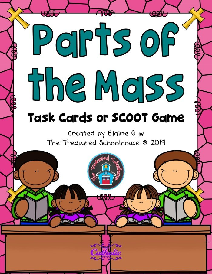 Parts of the Mass Task Cards or SCOOT Game