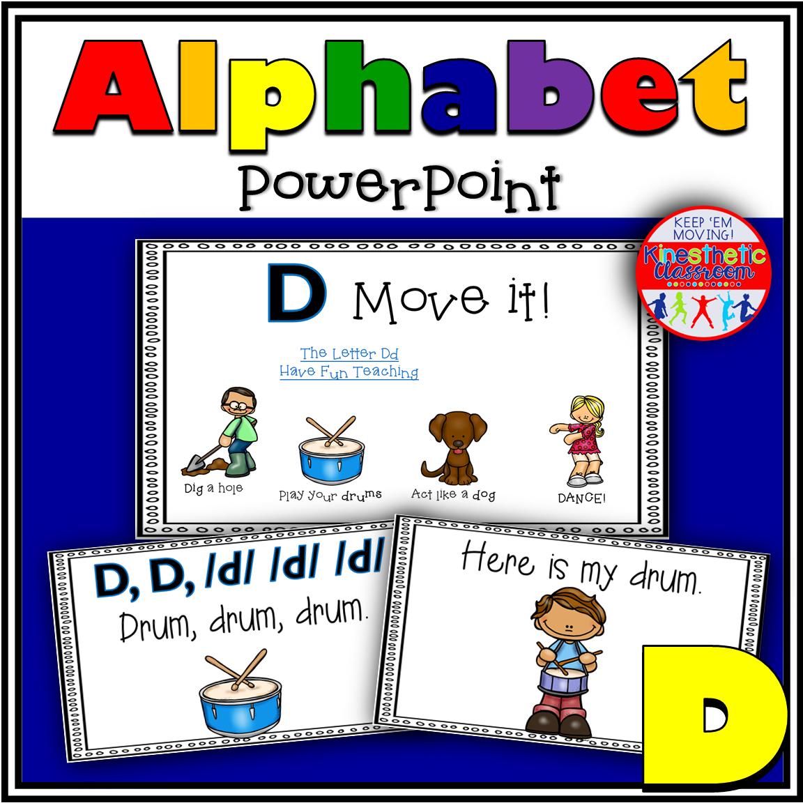 Alphabet Activity Letter Sound D PowerPoint Presentation