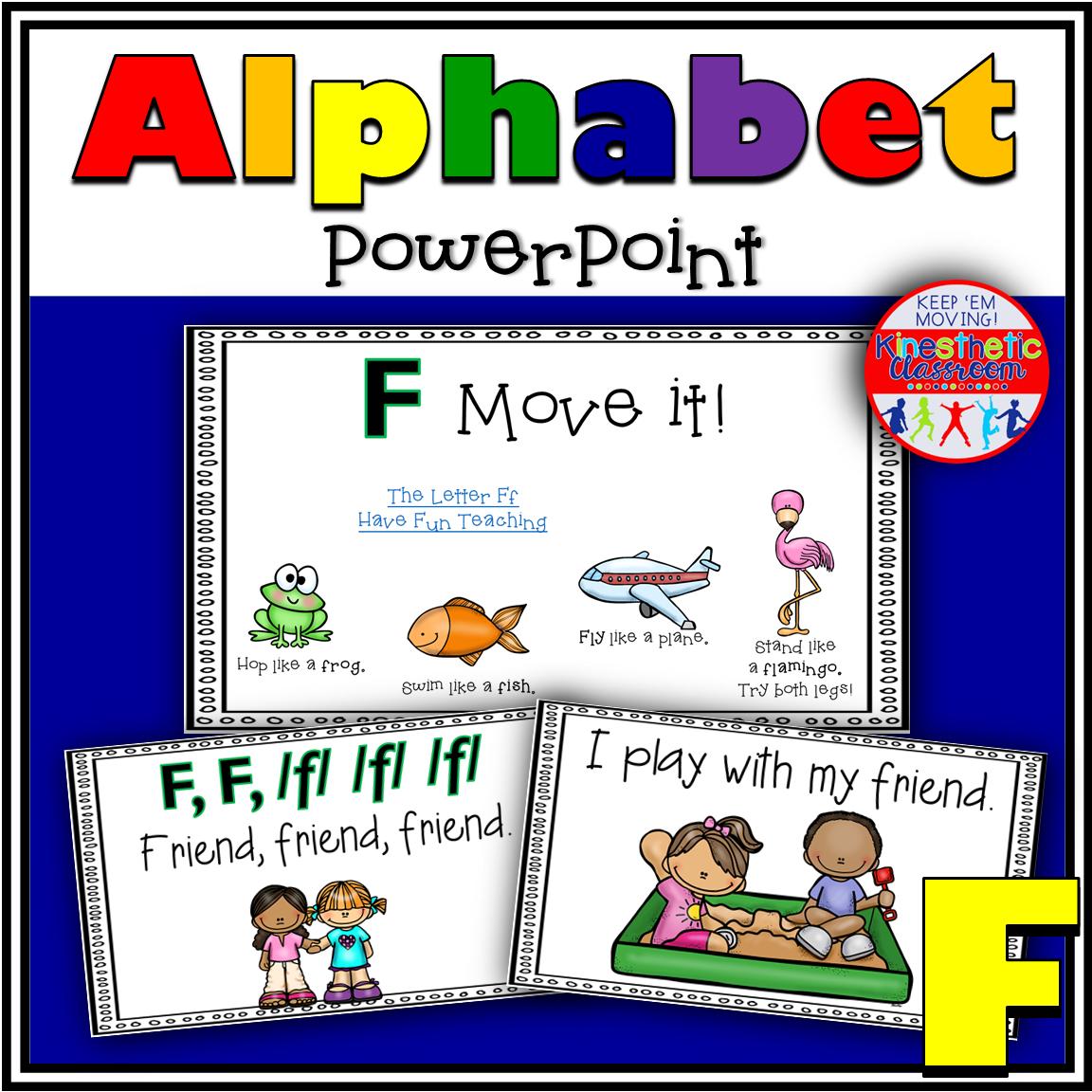 Alphabet Activity Letter Sound F PowerPoint Presentation
