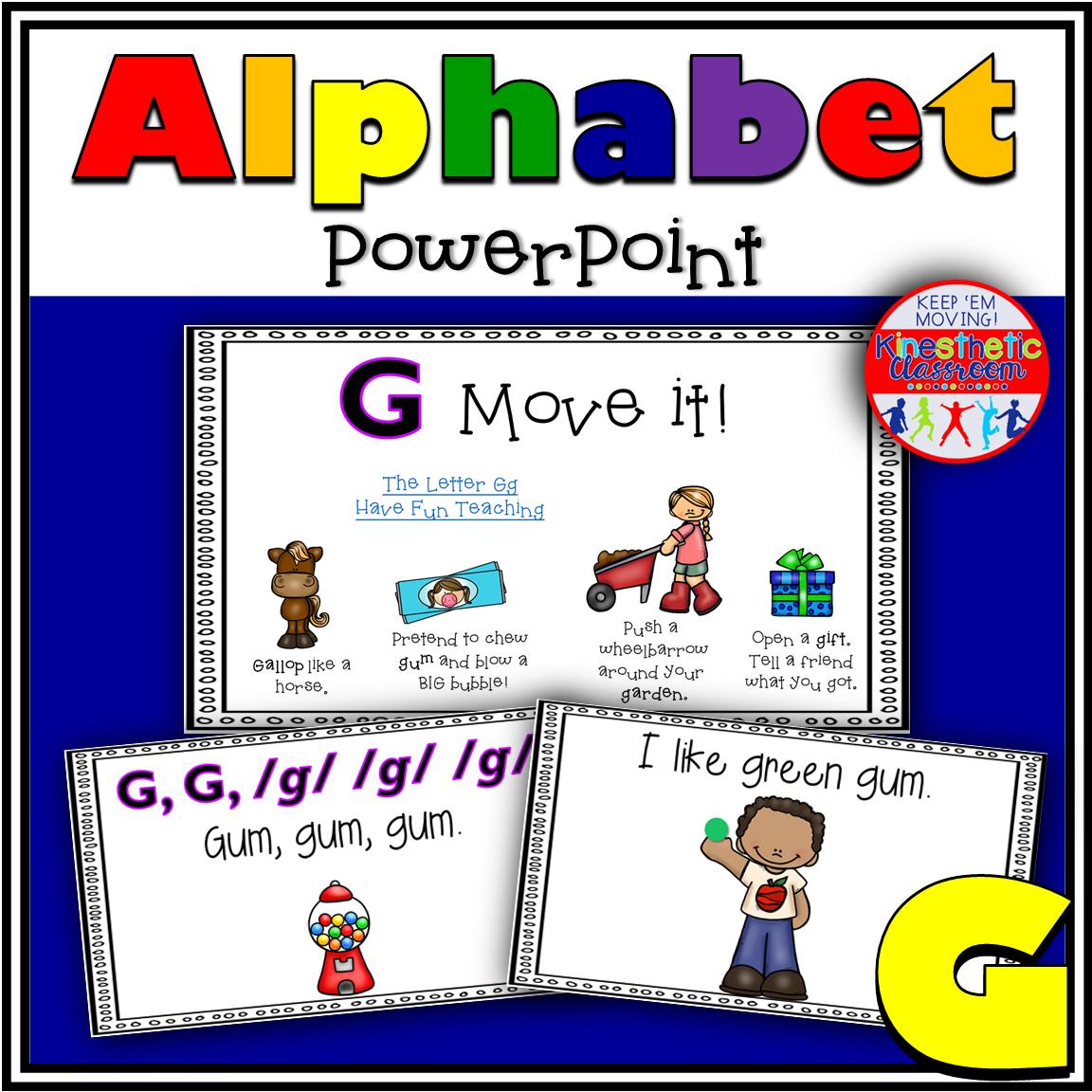 Alphabet Activity Letter Sound G PowerPoint Presentation