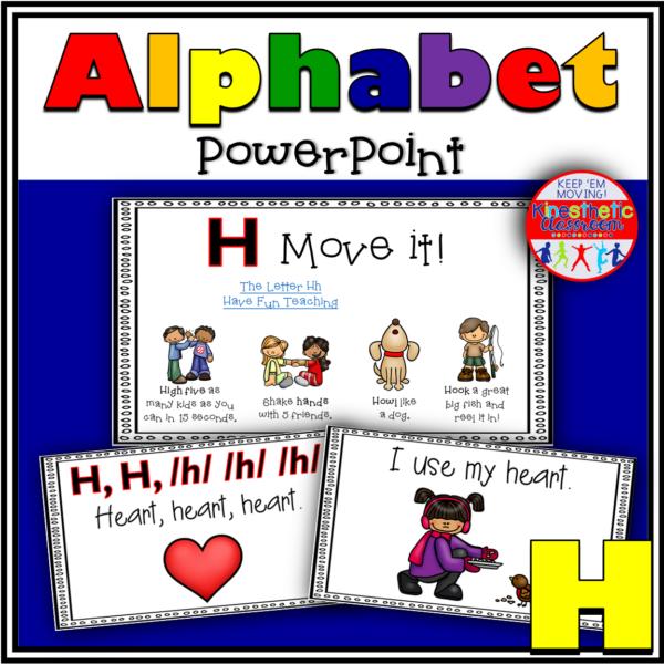 Alphabet Activity Letter Sound H PowerPoint Presentation