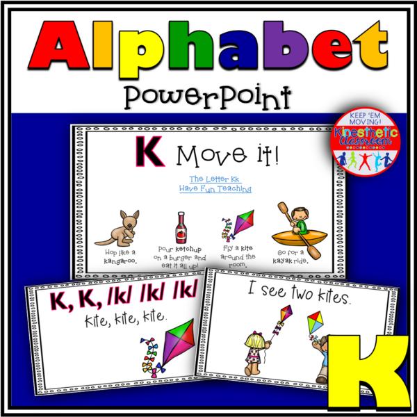 Alphabet Activity Letter Sound K PowerPoint Presentation