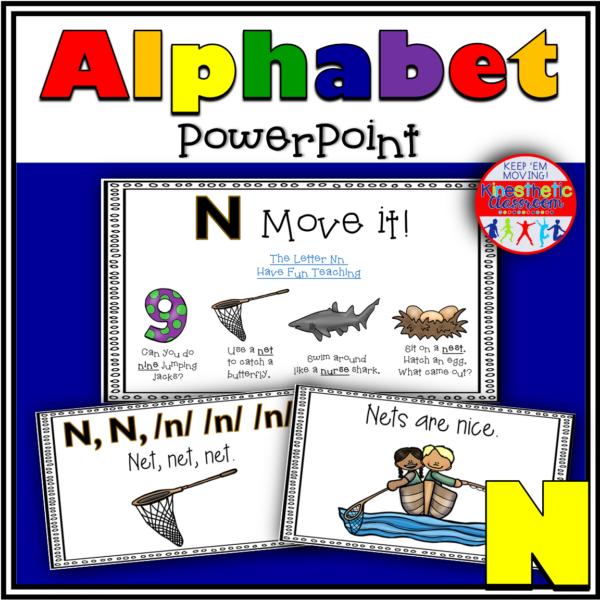 Alphabet Activity Letter Sound N PowerPoint Presentation