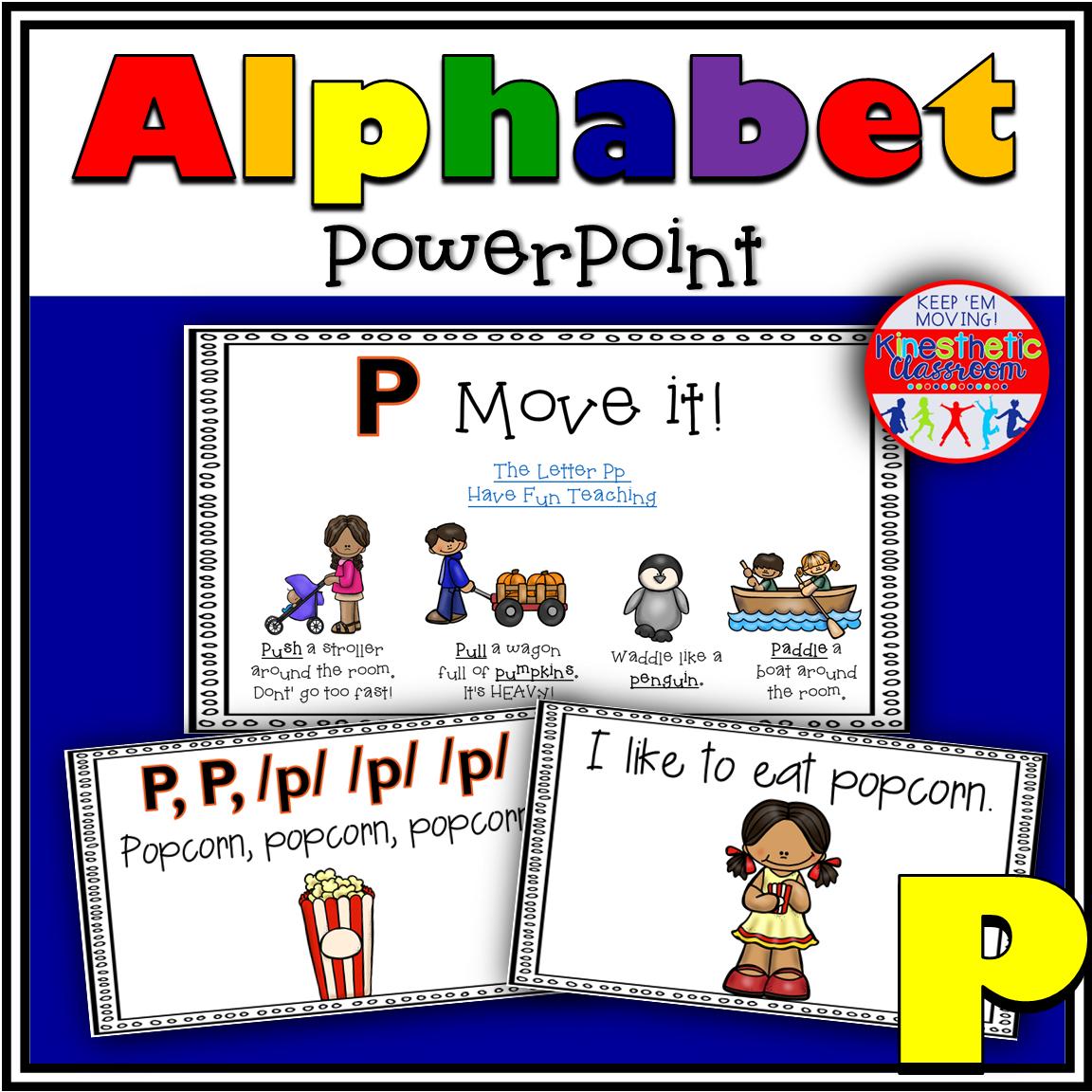 Alphabet Activity Letter Sound P PowerPoint Presentation
