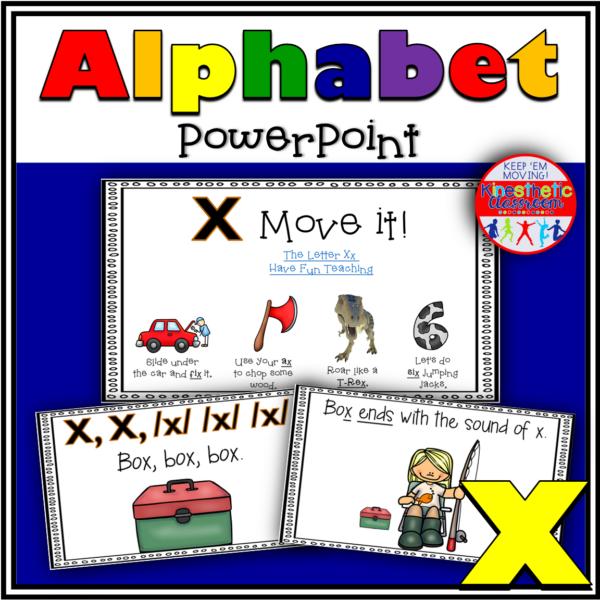 Alphabet Activity Letter Sound X PowerPoint Presentation