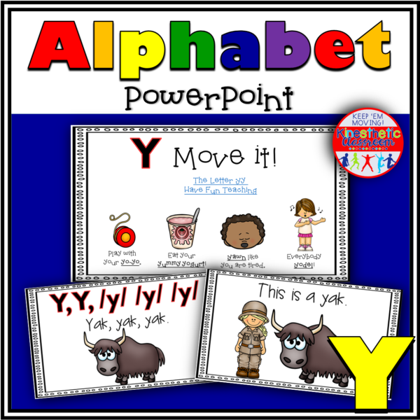 Alphabet Activity Letter Sound Y PowerPoint Presentation