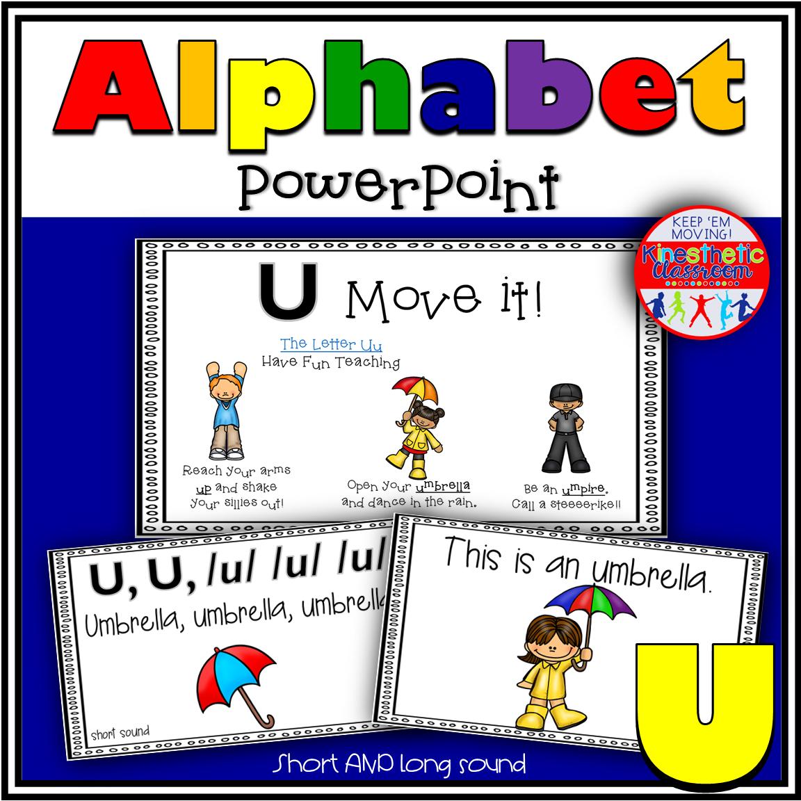 Letter U PowerPoint Activity