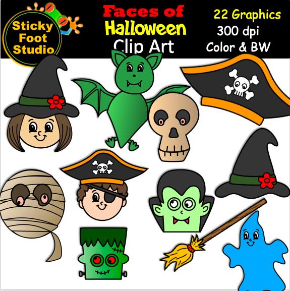 Cute Halloween Clip Art - (22 graphics)