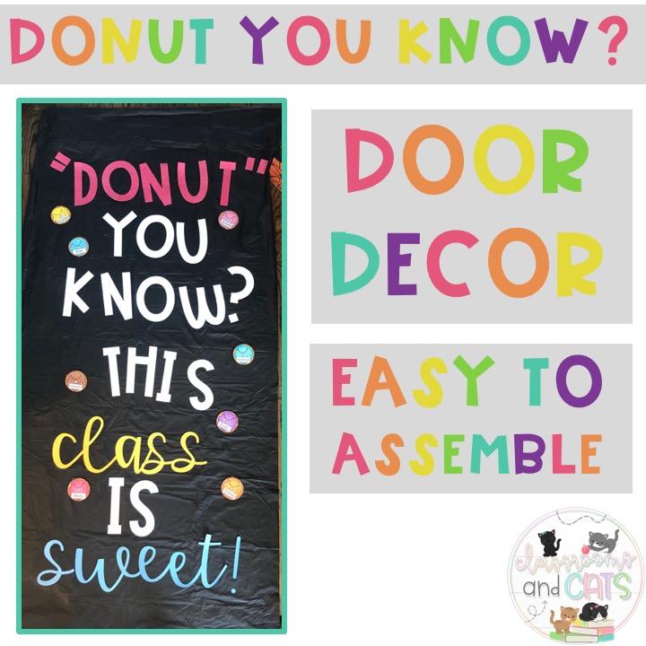 Donut Door Decor or Bulletin Board